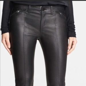 VINCE leather moto pants